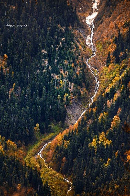 landscape, river, mountain, green, hiking, travel, svaneti, mestia, hatsvali River birthphoto preview