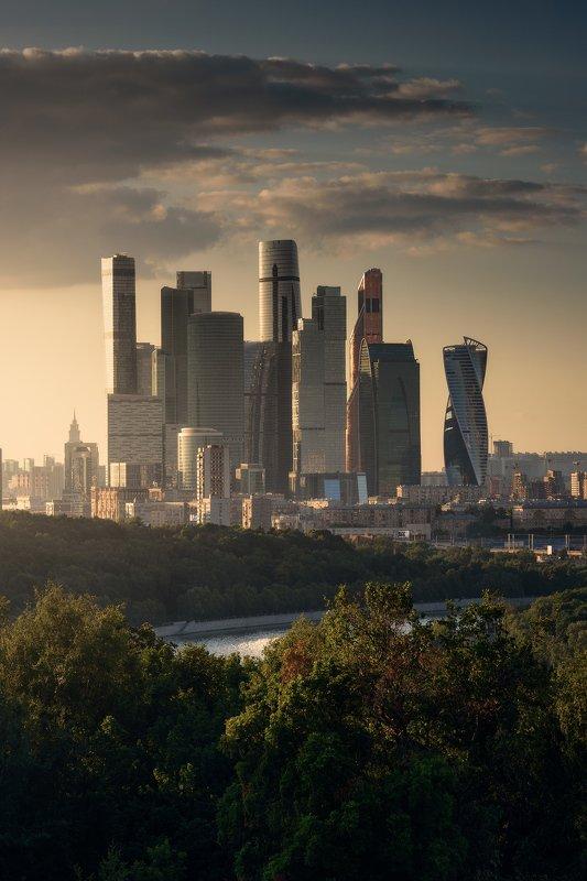 москва, россия, город, архитектура, закат, nikon, moscow, architecture, skyscraper Москва Ситиphoto preview