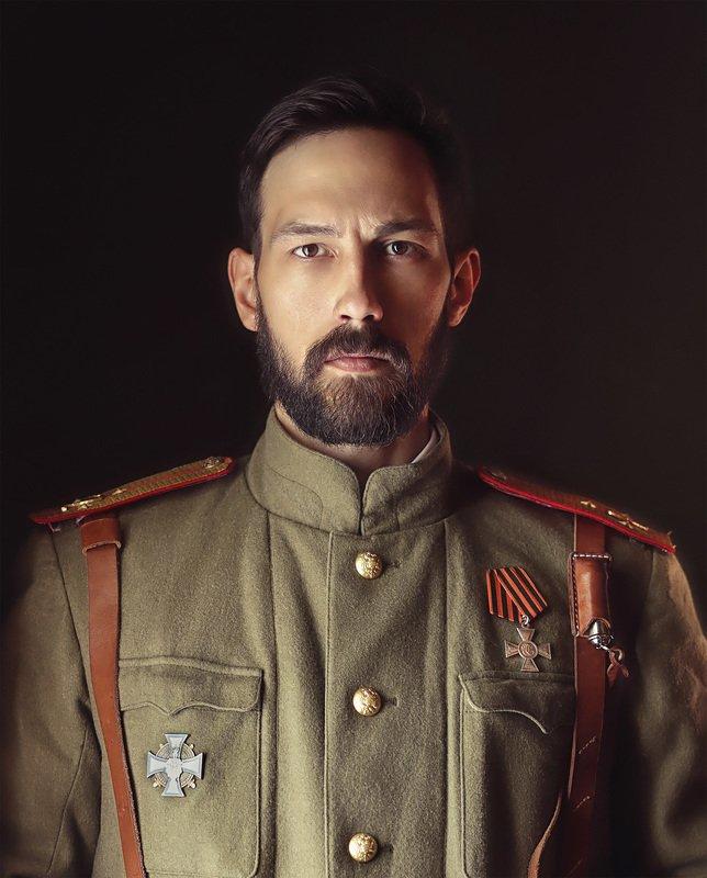 исторический костюм, реконструкция, мужской портрет, портрет, постановочное фото, история, царь, мундир, военная форма \