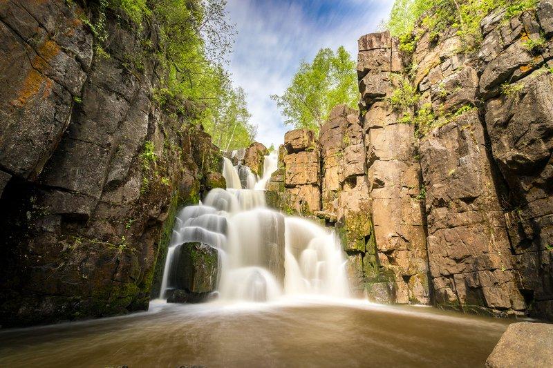 нижнеудинск, река, ук, уковский, водопад, ущелье, длинная, выдержка Уковский водопадphoto preview
