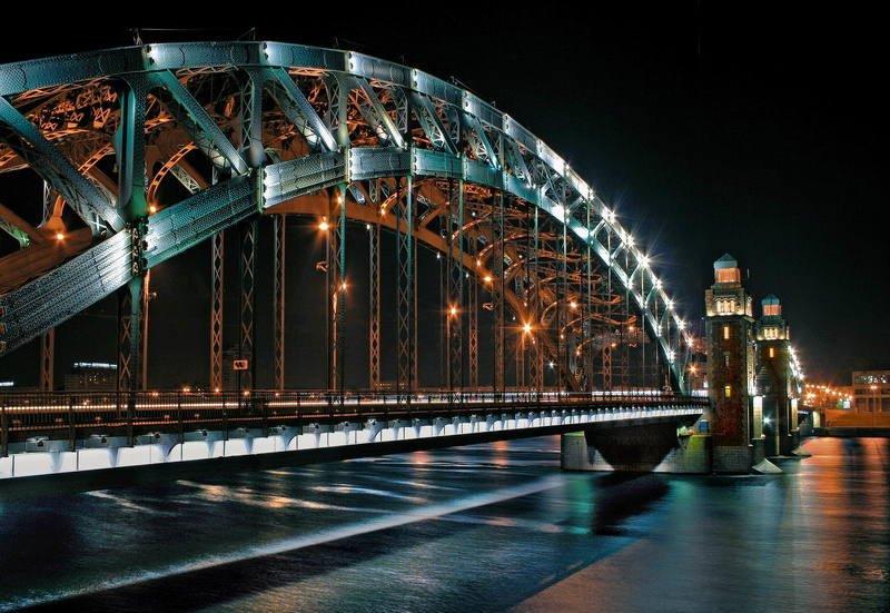 санкт-петербург, питер Технократический мост на Невеphoto preview