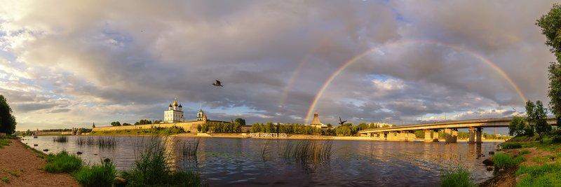 радуга, псков, лето, река, великая, троицкий Радугаphoto preview