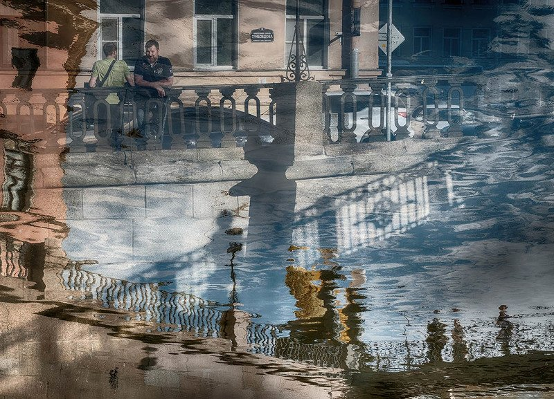 Санкт-Петербург, набережная, канал Грибоедова, отражения, тени Во власти отраженийphoto preview