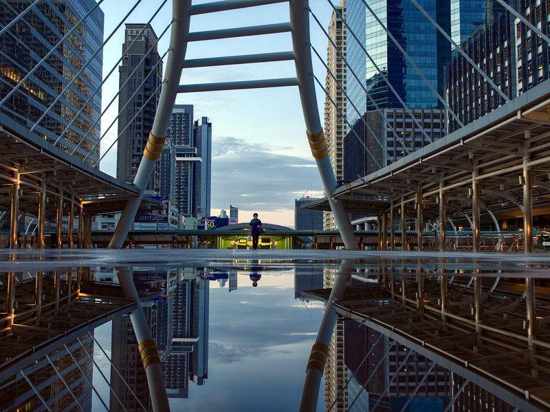 город, трэвел, утро, отражения, бангкок На работу.photo preview