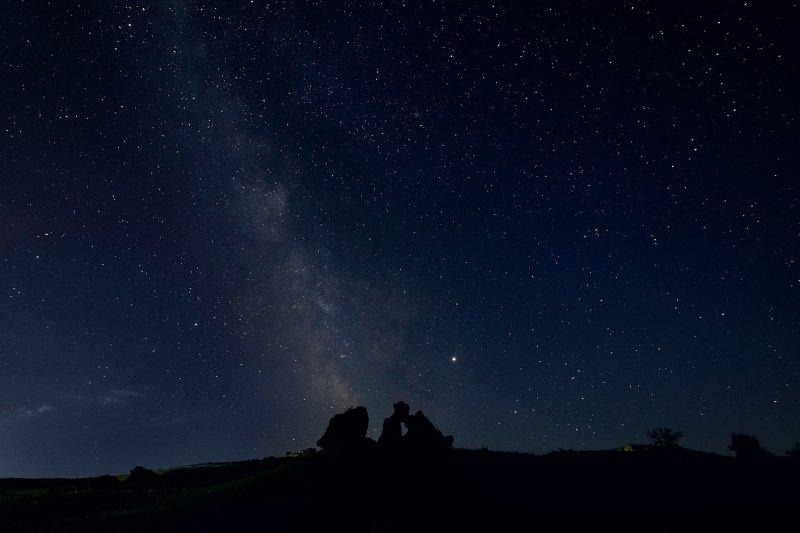 Керчь, Крым, звёзды, млечный путь, скалы Ночь в Караларском заповедникеphoto preview