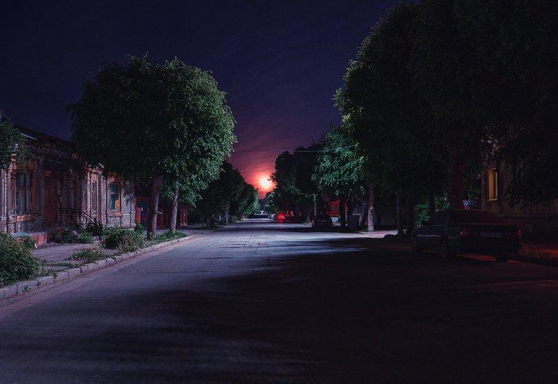ночь, рязань, луна Восход луны в старом городеphoto preview