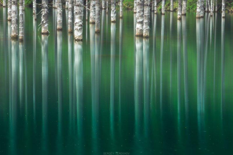 озеро каинды, казахстан, тянь-шань, кунгей алатау, Озеро Каинды на длинной выдержкеphoto preview