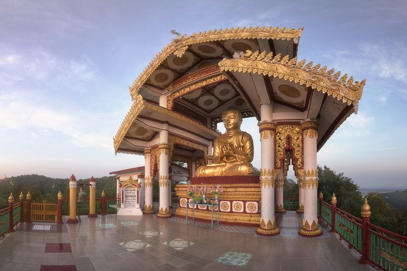 architecture, asia, asian, attraction, blue, buddha, buddhism, buddhist, building, burma, burmese, city, columns, complex, culture, evening, exterior, golden, heritage, hill, historic, history, landmark, mandalay, monument, myanmar, outdoor, pagoda, pilla Awakening фото превью