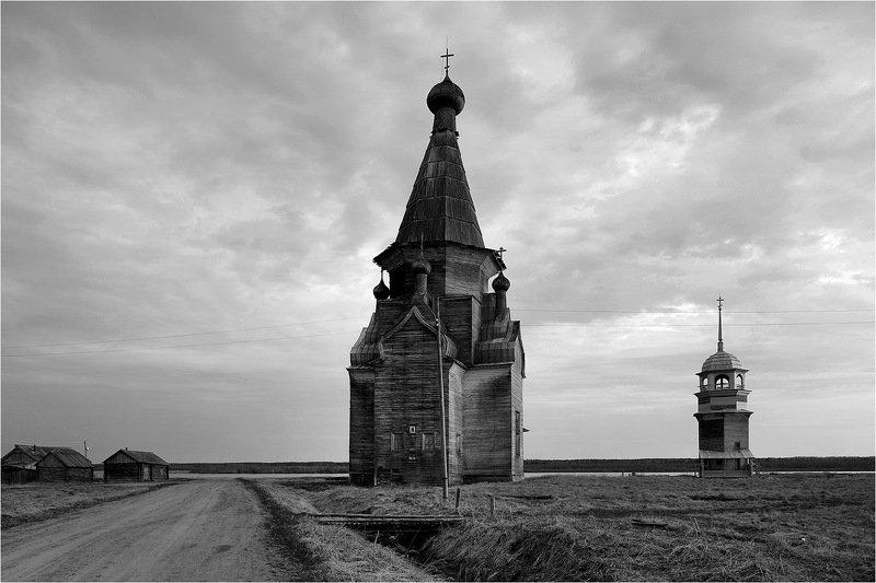 ч\\б, север, онега, деревянная архитектура, храм, У Онеги.photo preview