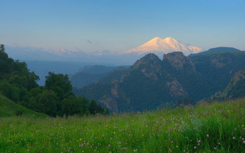горы лето кавказ кбр Утро в горахphoto preview
