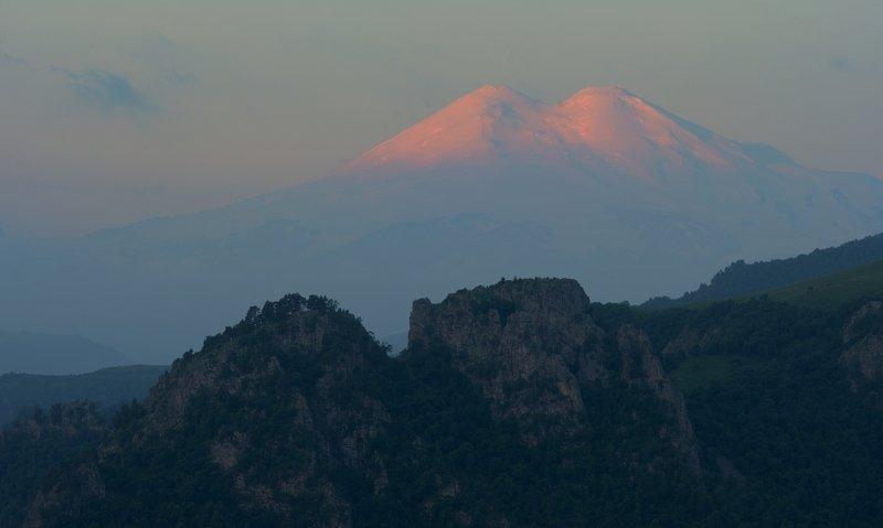 горы весна кавказ кбр эльбрус Рассвет в горах Кавказаphoto preview