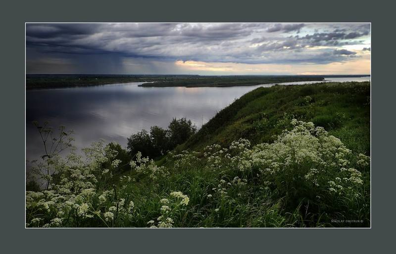 пейзаж дождь над рекой. июнь 2019photo preview