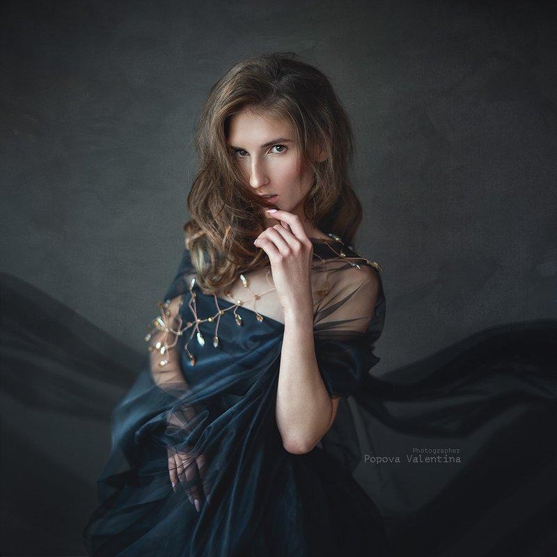 женщина, портрет, арт, классический портрет Анастасияphoto preview