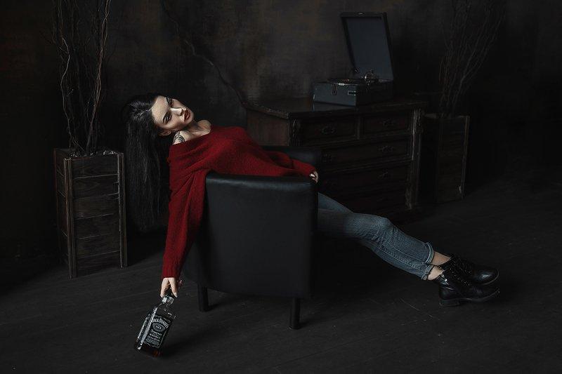 портрет, модель, арт, art Депрессияphoto preview