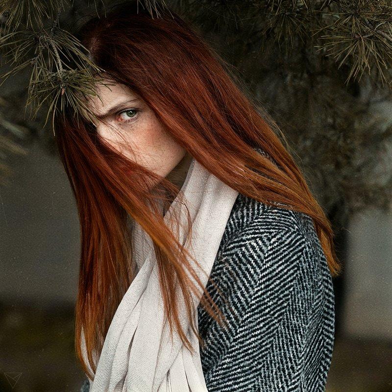Женский портрет, портрет, природа, portrait, women, красивый портрет, взгляд  Викаphoto preview