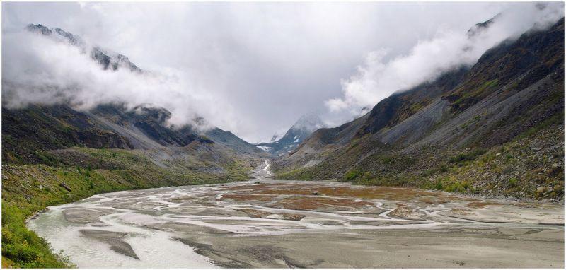 алтай, аккем, река, ледник Колыбель Аккемаphoto preview