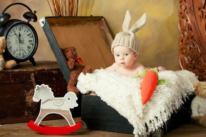 дети, детское фото Зайкаphoto preview