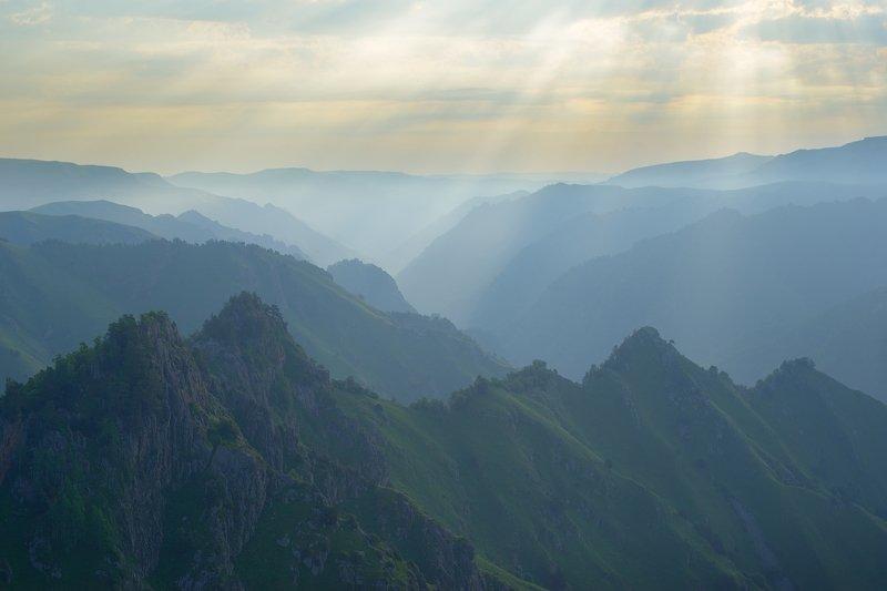 горы весна кавказ кбр Утро в горахphoto preview