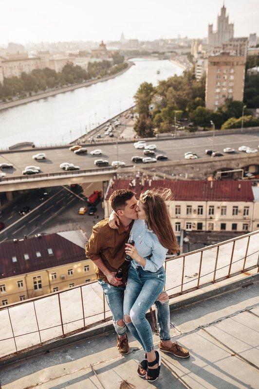 москва, крыша, таганка. закат, лавстори, лайфстайл, lovestory, lifestyle Roofs of Moscowphoto preview