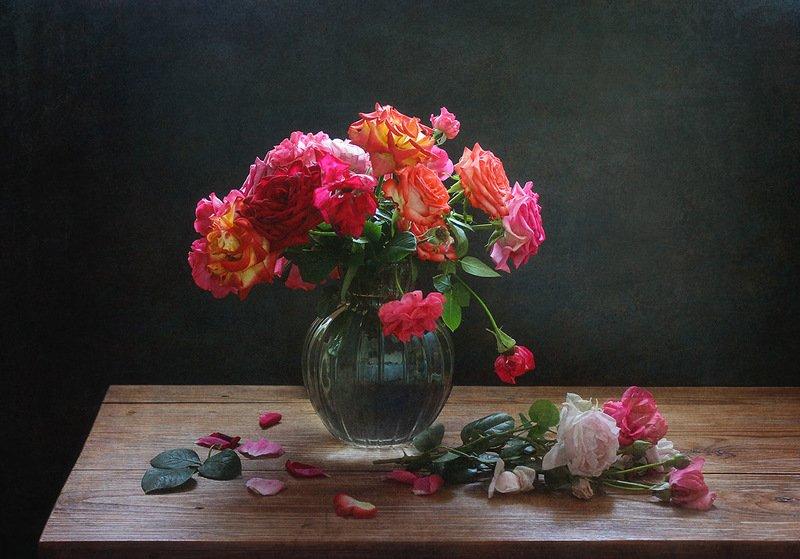 ваза,цветы, розы Розы июня.photo preview