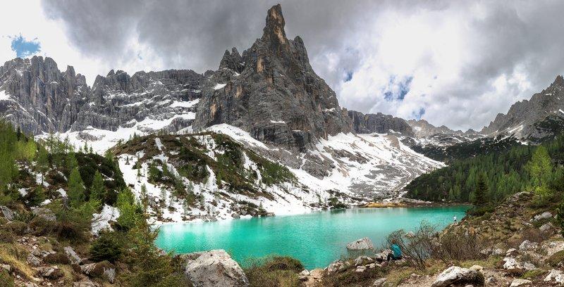 dolomiti, alps, panorama, sorapis Lago Sorapis (Озеро Сорапис)photo preview