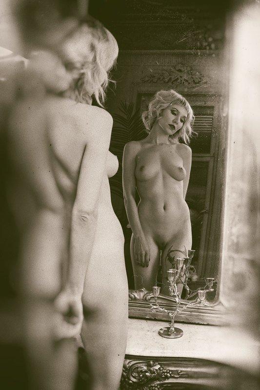 girl, nude, nu, retro, art, девушка, блондинка, ню, портрет, ретро, зеркало, mirror, чувственность Gellaphoto preview
