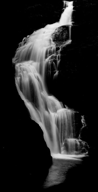 waterfall, black, water, mountains, karpacz, river Waterfall in total blackphoto preview