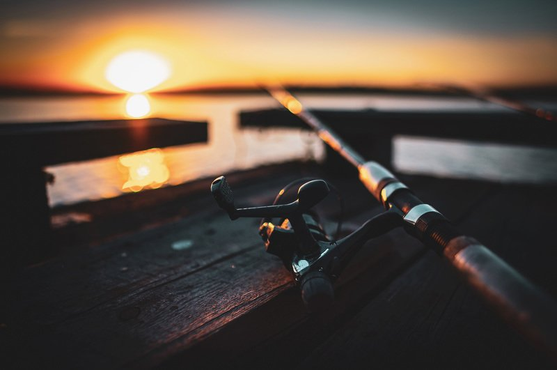 fishing sunset holiday рыбалка закат путешествие удочка лето пруд Fishing day.photo preview