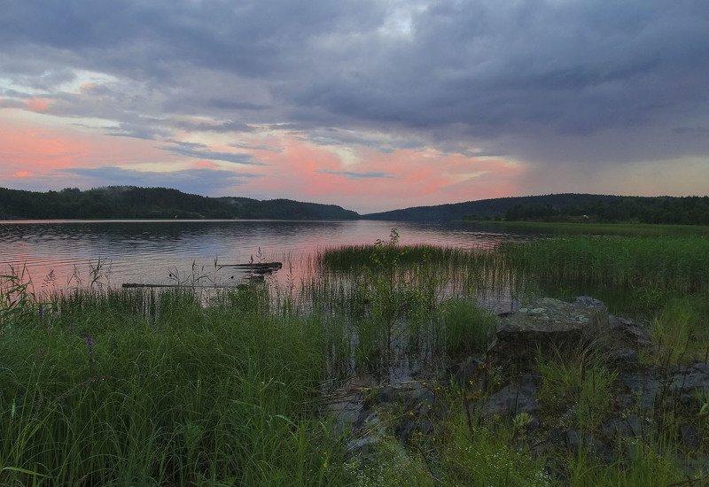 пейзаж, закат, ладога, природа, озеро, вода, вечер, тучи Закат на Ладогеphoto preview