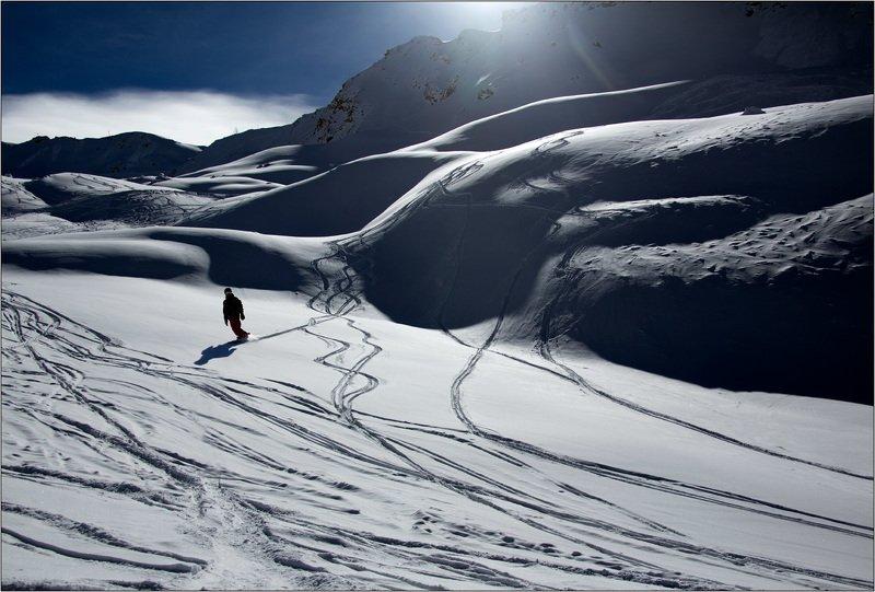 горы, лыжи доска, скейтборд, альпы, горные, фрирайд, лыжня Фрирайдphoto preview