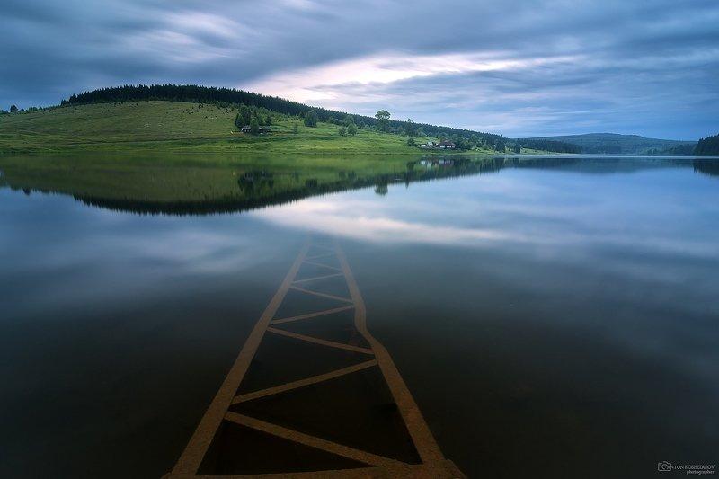 пермский край, закат , урал, холм, отражение, пруд Диссонансphoto preview