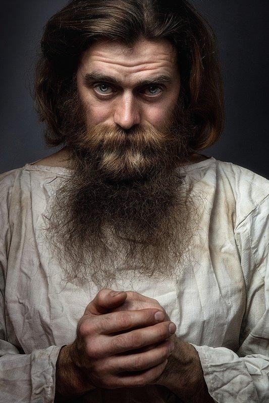 егерь, мужчина, портрет, мужской портрет, красивый, борода, длинная, усы, глаза Егерьphoto preview