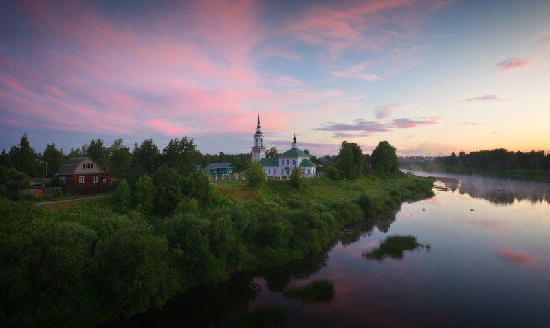 пейзаж, природа, река, буй На рассвете фото превью