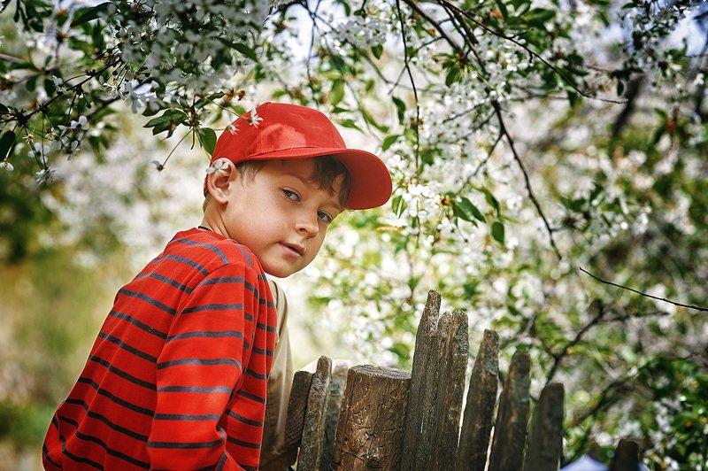 Детский портрет на природеphoto preview