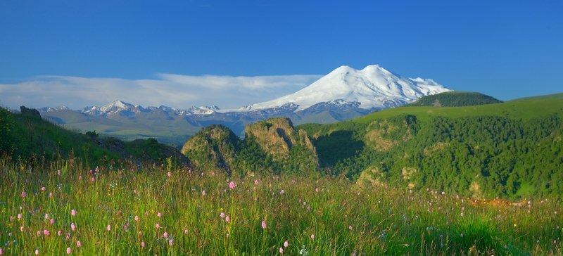 горы лето утро эльбрус Эльбрусphoto preview