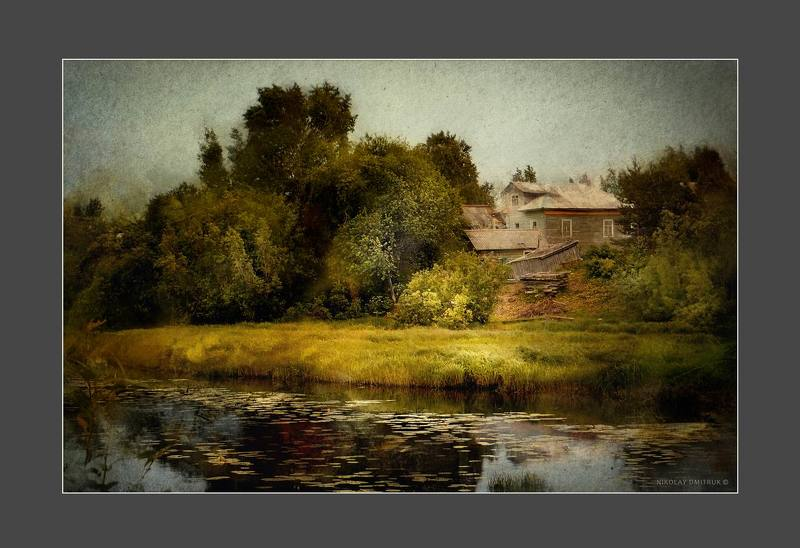 пейзаж ветер. дом у реки. июнь 2019photo preview