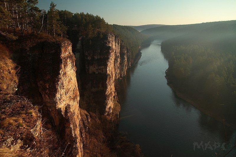 пейзаж река ай большие притесы весна Айские притесыphoto preview