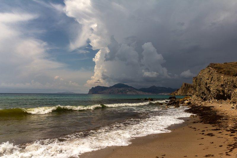 пейзаж, крым, море, черное Накрывает...photo preview