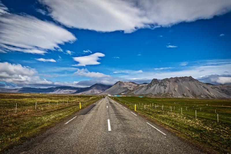 пейзаж, лето, природа, исландия, ладшафт, дорога Дорога в горыphoto preview