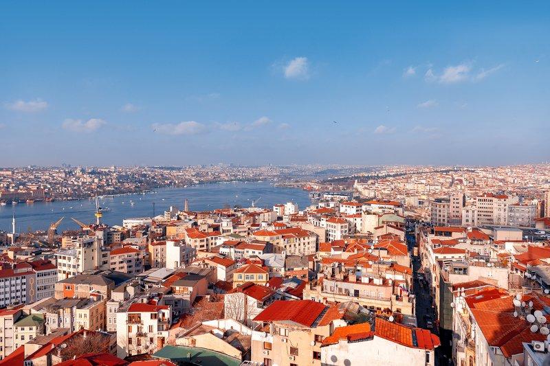 стамбул, город, турция, панорама Вид на Стамбул с Галатской Башниphoto preview