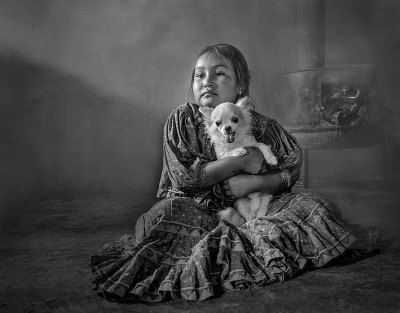 girl,dog,stove,native, With my petphoto preview
