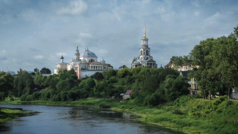 торжок, борисоглебский монастырь, архитектура, река, история, пейзаж, Борисоглебский монастырь, Торжокphoto preview
