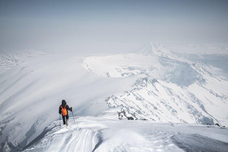 Толбачик, Камчатка, зима, вулкан На Толбачикеphoto preview