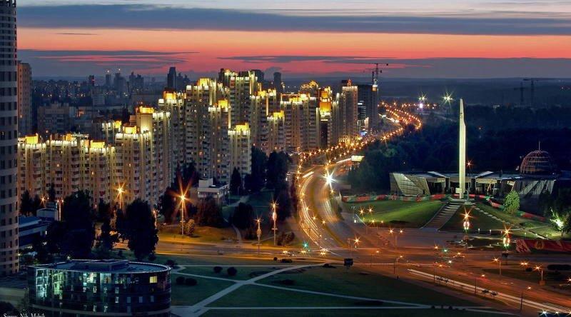 беларусь, город, минск, вечер, фотосфера-минск Микрорайон «СИЯЮЩИЙ»photo preview