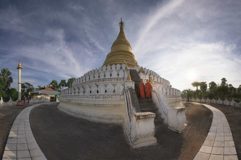 architecture, asia, asian, attraction, blue, buddha, buddhism, buddhist, building, burma, burmese, city, construction, culture, evening, famous, gold, historical, history, kun, landmark, landscape, mandalay, min, mingun, monks, myanmar, old, outdoor, pago The Novicesphoto preview