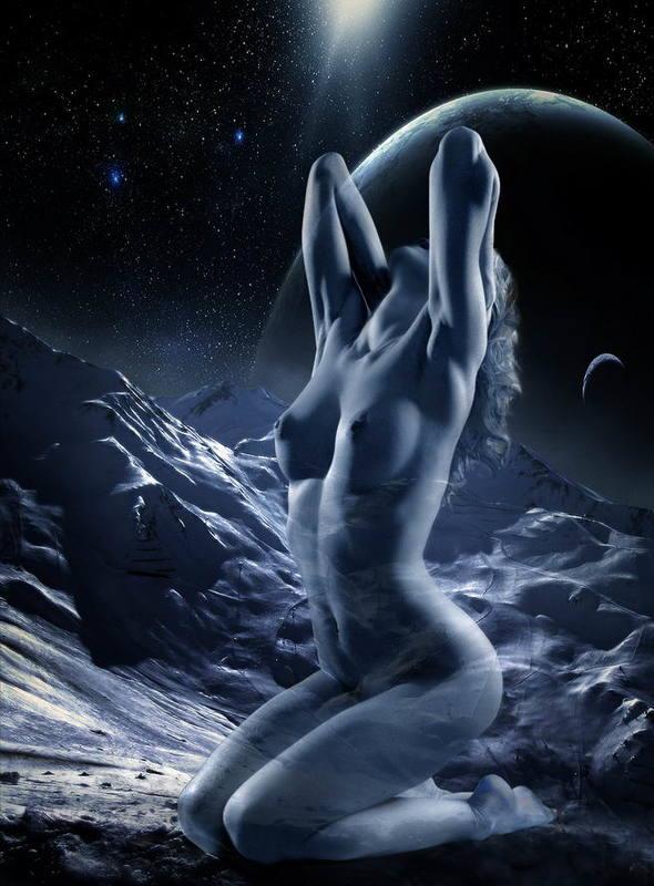 девушка,  модель,   обнажённая,  nude,  girl, эротика,  erotic, ню, nudeart,photosession Иллюзорно-космический сон...photo preview