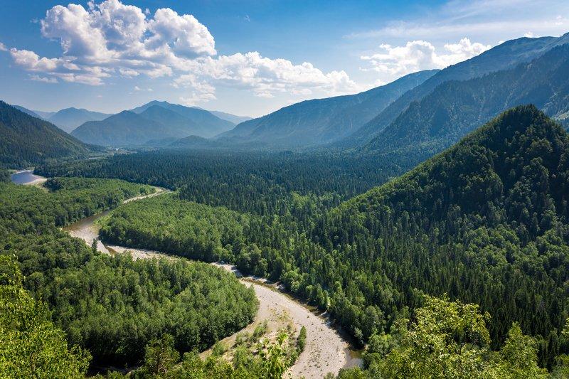 иркутская область, долина реки снежная, пейзаж, горы, распадок, лето, теплые, озера Долина реки Снежнаяphoto preview