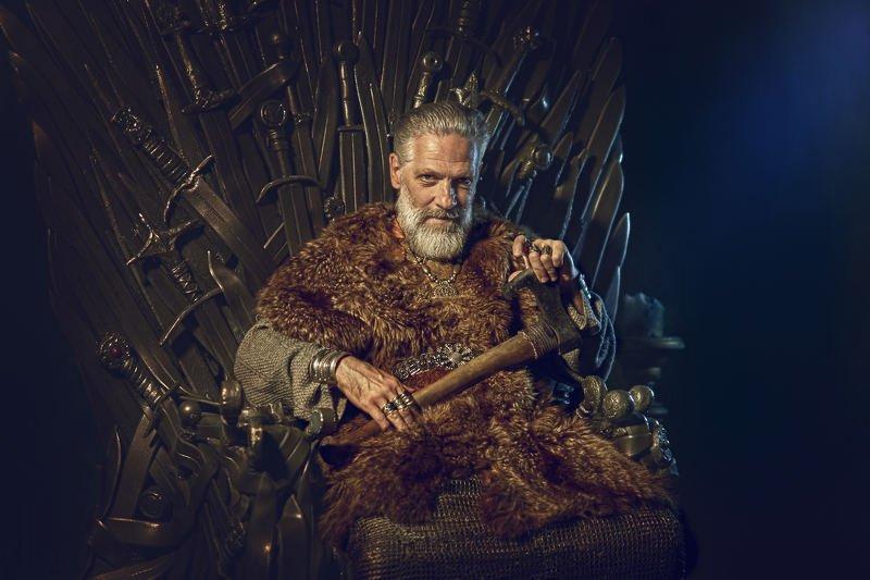 студия_цитадель, король, викинг, трон, rekhov Король викинговphoto preview