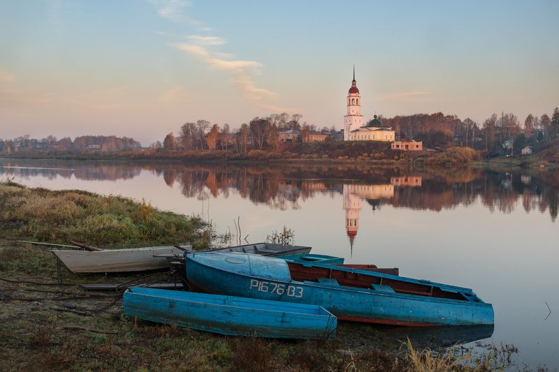 Лодки на Сухоне. Тотьмаphoto preview
