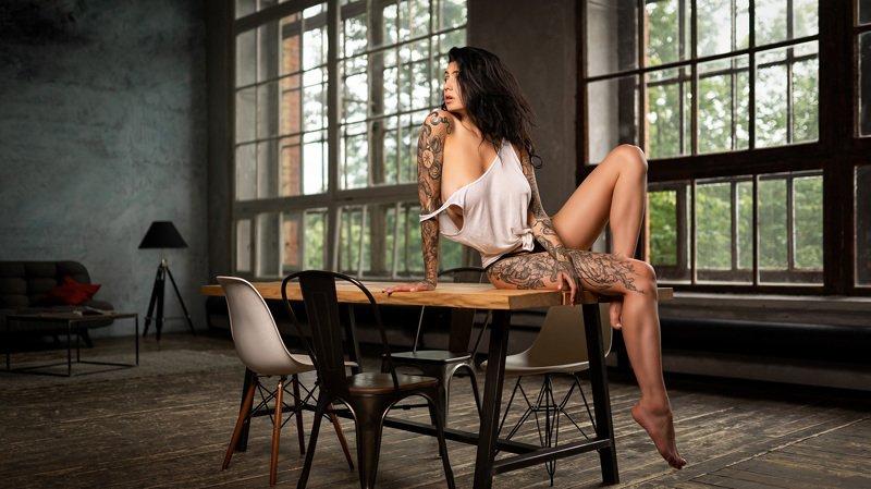 nude girl russian studio light topless JaneFaysphoto preview